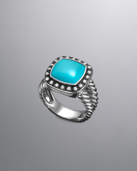 Moonlight Ice Ring, Turquoise, 11mm