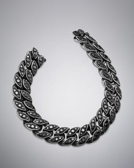 Curb Chain Bracelet, Pave Black Diamonds