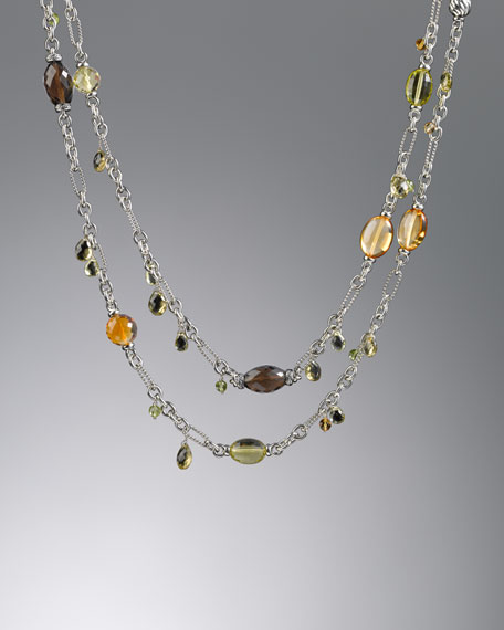 "Bijoux Necklace, Smoky Quartz, 50""L"