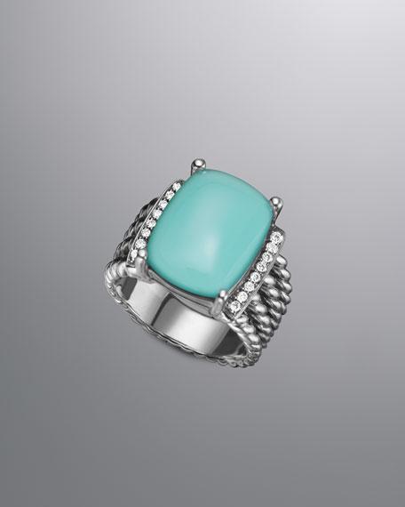 Wheaton Ring, Aqua Chalcedony, 16x12mm