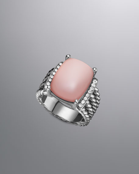 Wheaton Ring with Rose Quartz and Diamonds