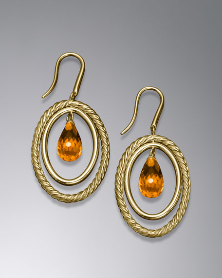 Mobile Earring, Citrine