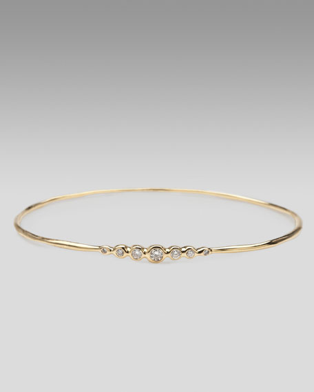 Seven-Diamond Bangle