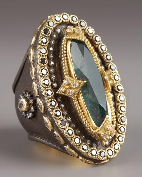 Heraldica Oval Bloodstone Ring