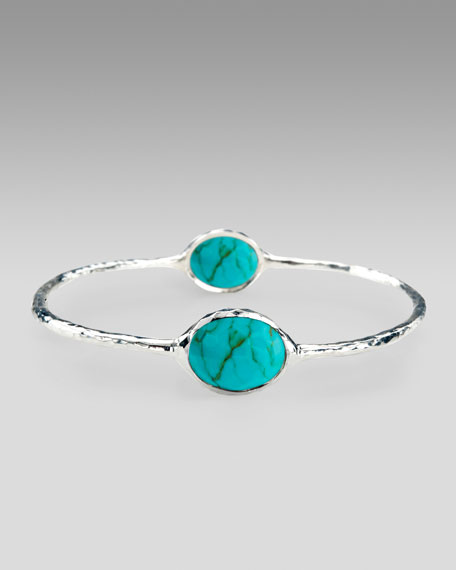 Turquoise Two-Station Bangle