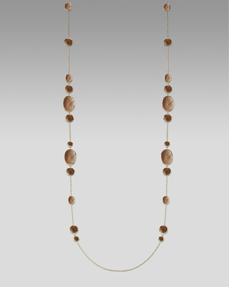 """Brown Shell Necklace, 50""""L"""