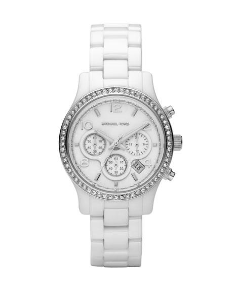 White Ceramic Glitz Watch