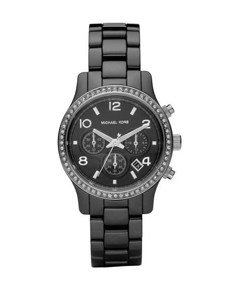 Black Ceramic Glitz Watch
