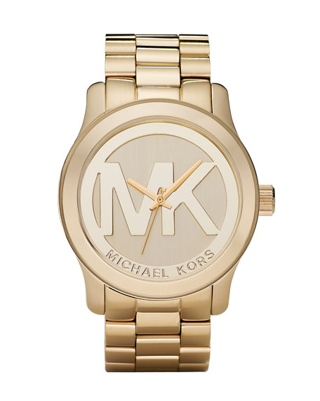 GOLD WITH MK FACE WATCH