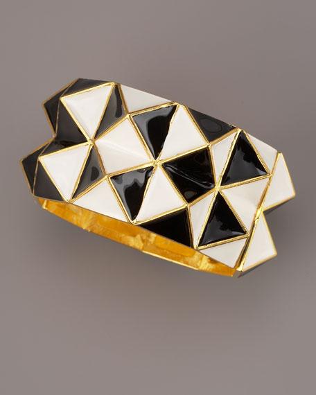Pyramid Cuff, Black/White
