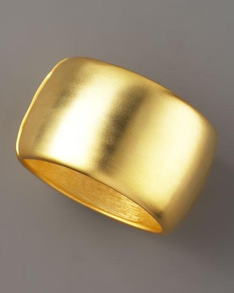Golden Wide Bangle