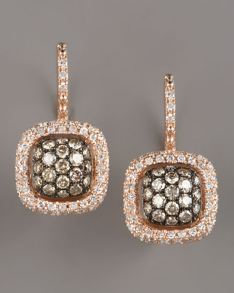 kc designs champagne white diamond earrings rose. Black Bedroom Furniture Sets. Home Design Ideas