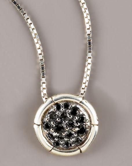 Bamboo Petite Black Sapphire Necklace