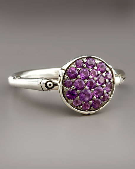 Bamboo Amethyst Ring, Small