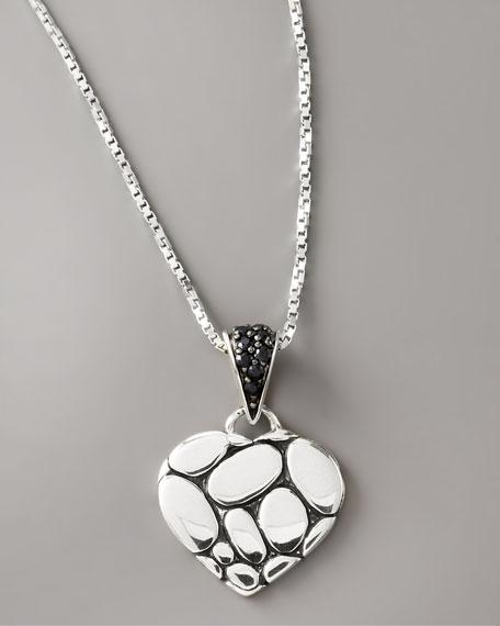 Black Sapphire Heart Pendant