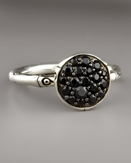 Bamboo Black Sapphire Ring, Small