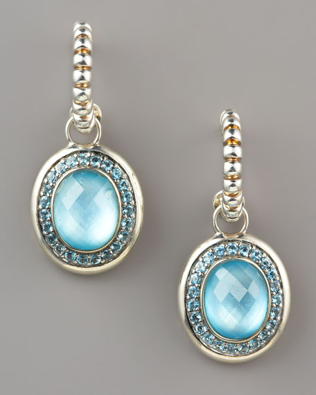 Batu Bedeg Topaz Drop Earrings
