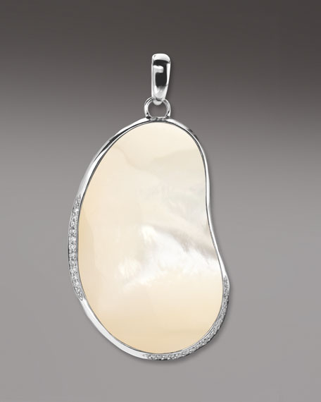 Pave Diamond Bean Pendant