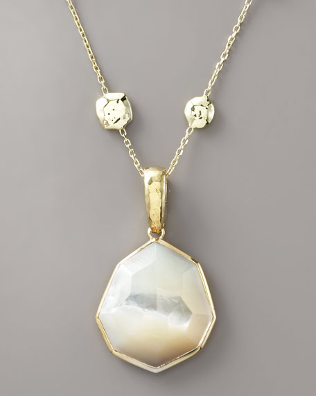 Faceted Mother-of-Pearl Pendant