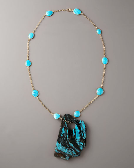 Free-Form Turquoise Pendant Necklace
