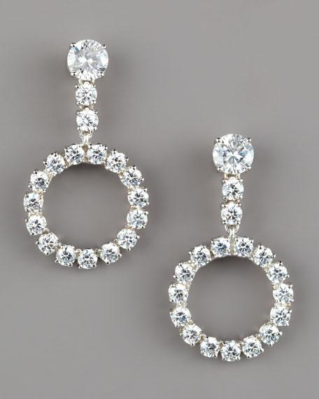 Open-Circle Drop Earrings