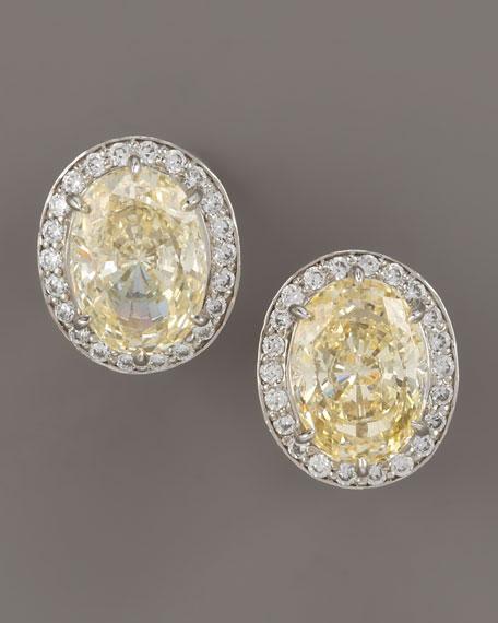 Canary Cubic Zirconia Earrings