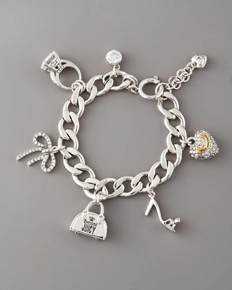 Assembled Girly Charm Bracelet