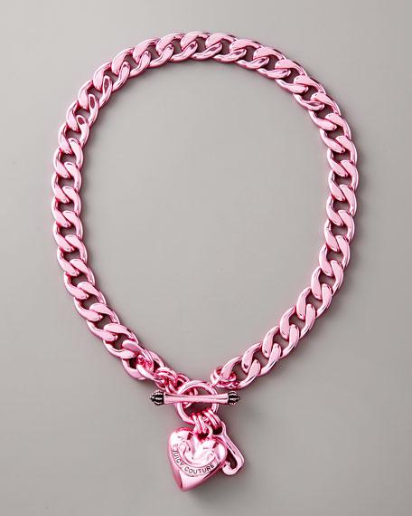 Starter Charm Necklace, Pink