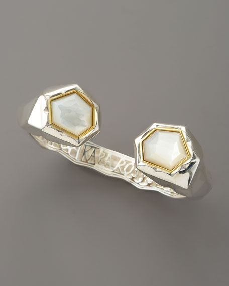 Faceted Mother-of-Pearl Kick Cuff