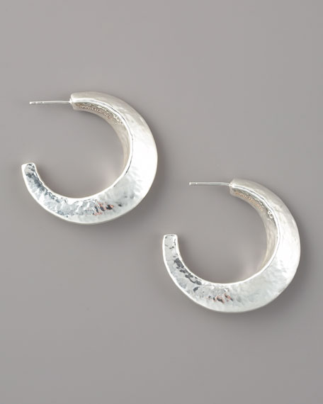 Glamazon Silver Flat Hoop Earrings