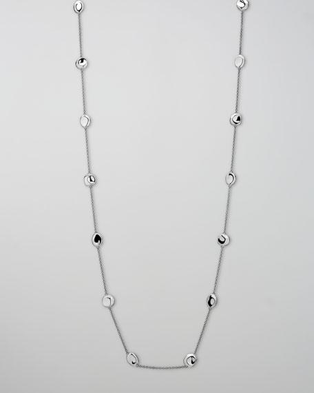 "Silver Station Necklace, 37""L"