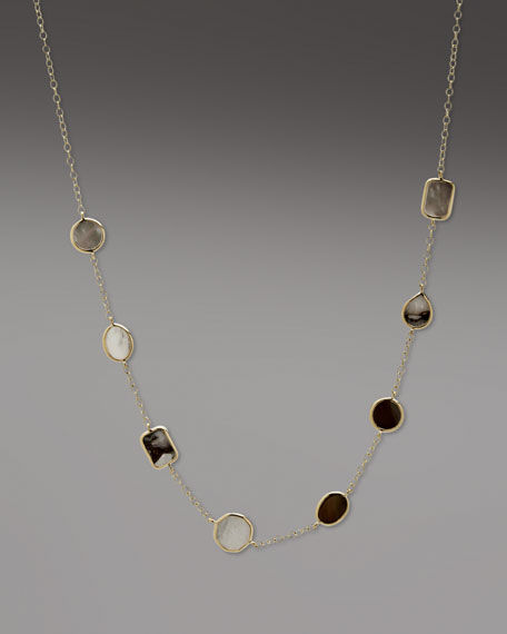 """Calcite and Mother-of-Pearl Necklace, 18"""""""