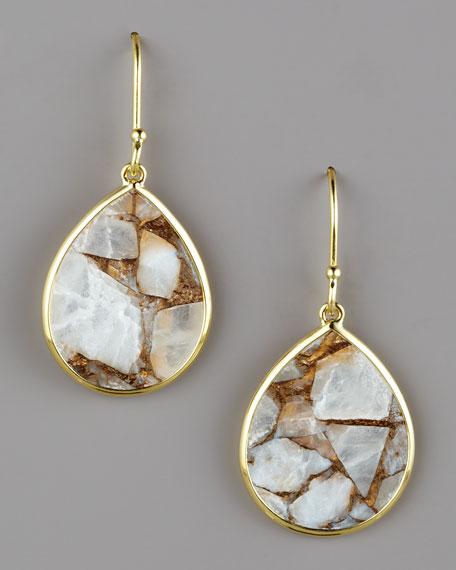 Small Teardrop Earrings, Calcite