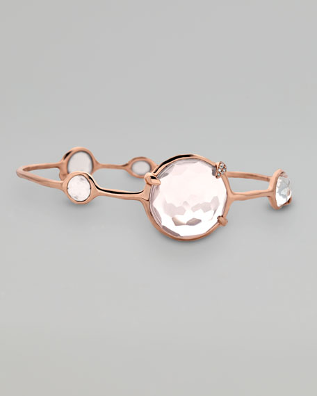 Rose Five-Stone Quartz Bangle
