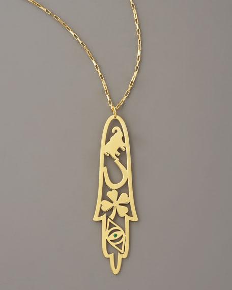 Skinny Hamsa Necklace