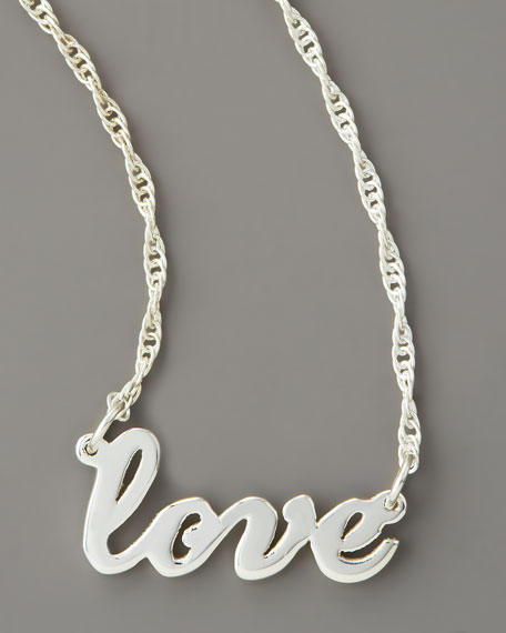 Cursive Love Necklace