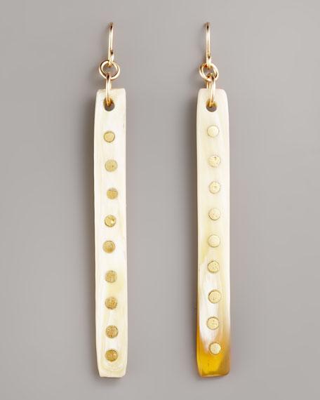 Light Horn Stick Earrings