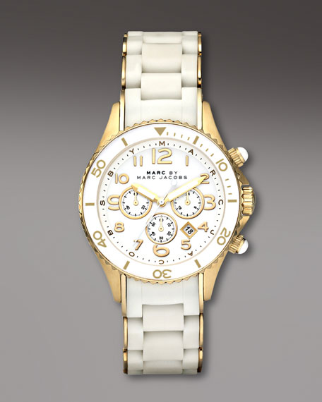 40mm Chronograph Watch, White