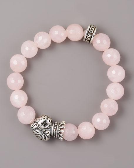 Rose Quartz Crown Bracelet