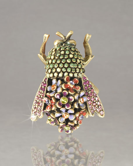 """Savita"" Floral Bumblee Bee Pin"