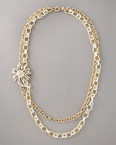 Flower-Detailed Necklace