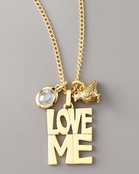 Love Me Charm Long Necklace