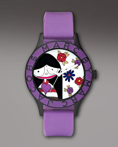 Miss Marc Flower Watch, Purple