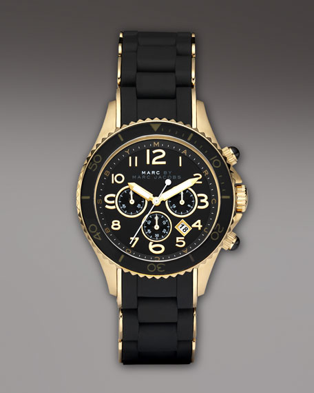 40mm Chronograph Watch, Black