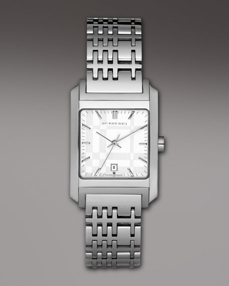 Check Stainless Steel Watch