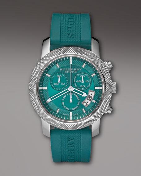 Sport Chronograph Watch, Teal
