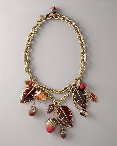 Metallic Acorn Necklace