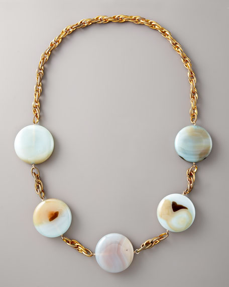Long Round-Disc Necklace