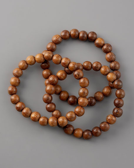 Not To Worry Beaded Bracelet Set, Brown
