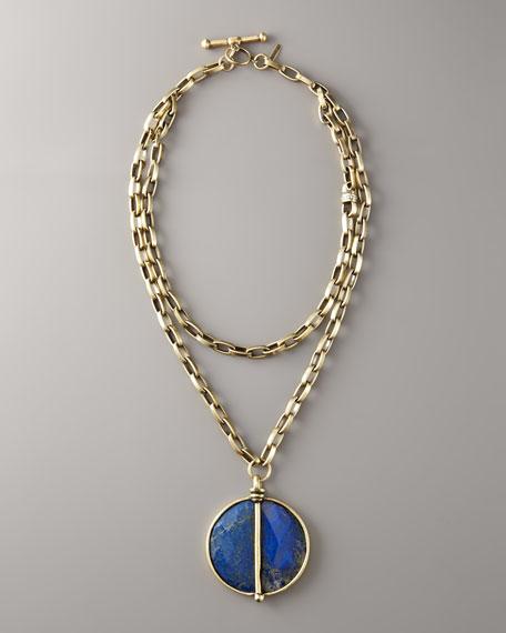 """Lapis Pendant Necklace, 36""""L"""